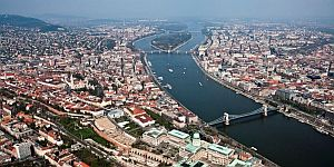 Flight above Budapest